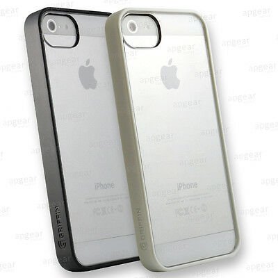 Griffin Reveal Thin Clear Case Protective Cover For Iphone 5 5S Se White Black