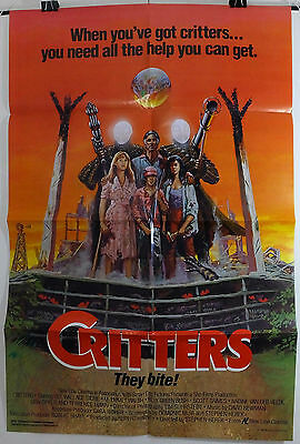 Critters - Dee Wallace / M. Emmet Walsh - Original American 1Sht Movie Poster