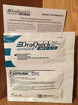 NEW OraQuick Advance HIV-1/2 Rapid Antibody Test FACTORY SEALED EXPIRES JULY2017