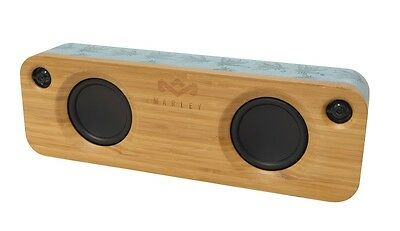 House of Marley Get Together Bluetooth Speaker - Rechargeable Portable Blue Hemp