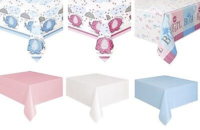Baby Shower TABLECOVER Party Tableware Plastic Tablecloth Boy Girl Unisex