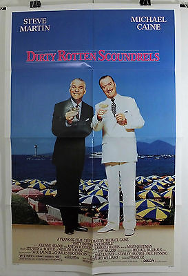 Dirty Rotten Scoundrels - Michael Caine - Original American 1Sht Movie Poster