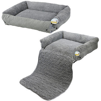 Me & My Pet Quilted Grey Fleece Fold Out Cat/dog Bed Sofa/couch/chair Protector