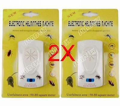 2 X Pest Repeller Electronic Ultrasonic Mouse Rat Mosquito Insect Rodent Control