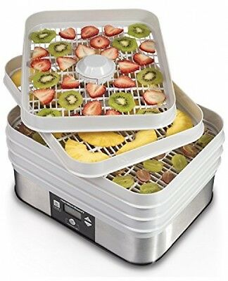 Stackable Food Dehydrator 5 Trays Jerky Fruit Vegetables Drying Hamilton Beach