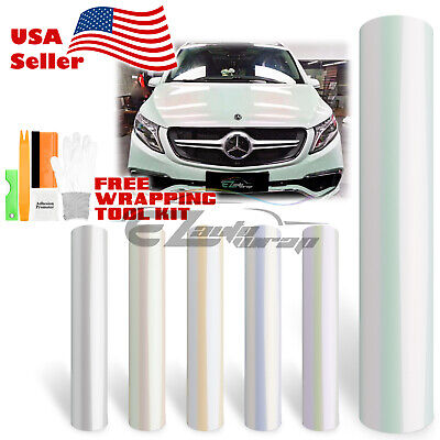 * Variochrome Gloss Pearl White Color Vinyl Wrap Sticker Decal Sheet Bubble Free