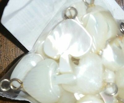 NOS New Vintage Carved MOP Mother of Pearl Shell Mushroom Fetish Charm Pendant A