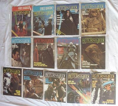 13 Star Wars Return Of The Jedi Marvel Comics 1983 1 9 11 13 14 15 20 22 24 37/8