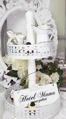 Etagere Weiss Holz & Metall Vintage Landhausstil Shabby Chic Cottage Vintage