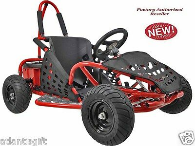 48v 1000w High Performance MotoTec Electric Off Road Ride On Red Go Kart