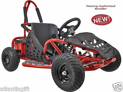 48v 1000w High Performance MotoTec Electric Off Road Go Kart Red New