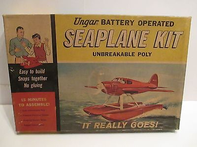 Seaplane Battery Operated Mint In Box Never Assembled All Complete