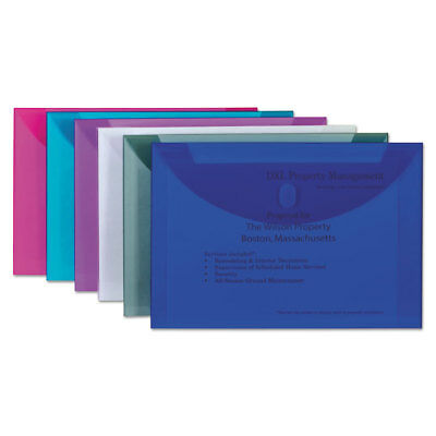 Reusable Poly Envelope, Hook and Loop Closure, 9 1/2 x 13, Assorted