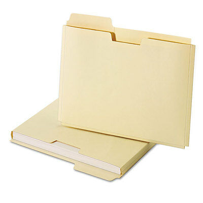Expanding File Folder Pocket, Letter, 11 Point Manila, 10/Pack