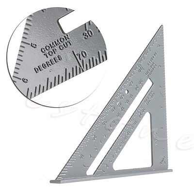 Aluminum Alloy 7'' Square Protractor Miter Framing Measuring Tool Triangle Ruler