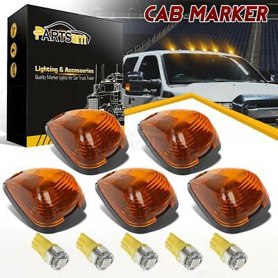 5xFor 99-16 Ford Amber Roof Running Light Cab Marker 264143AM+Amber 158 5050 LED