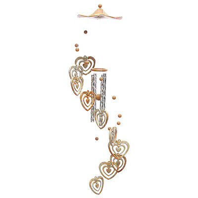 Heart Campanula Ornament Wind Chime Gardens Outdoor Porch Hanging Decor