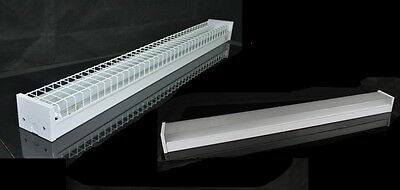 LED T8 Fluorescent 4 Foot Batten Lights Cage Diffused or Bare 36w 4000 Lumens