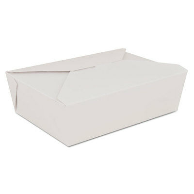 ChampPak Retro Carryout Boxes, Paperboard, 7-3/4 x 5-1/2 x 2-1/2, White