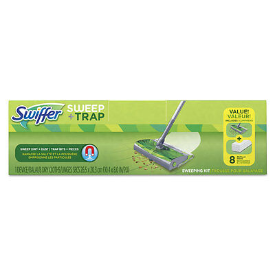 Sweep + Trap Starter Kit with 8 Dry Cloths
