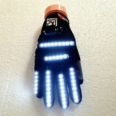 1 Pairs Rave Power LED Light Gloves For DJ MC Dance Poping Show NightClub Party