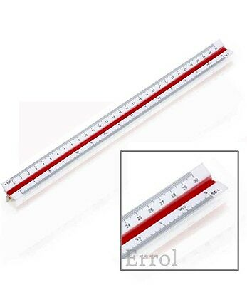 Scale Ruler Triangular 30cm 6 Scales. Student Engineer Architect   UK Seller