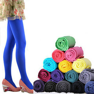 Women Lady Footed Thick Opaque Pantyhose Stretch 120D Long Tights Solid Colors