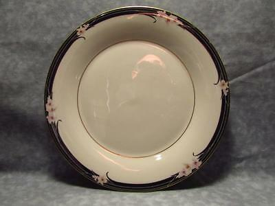 Enchantment by Royal Doulton Dinner Plate Pink Flower Black Band Gold Verge L134
