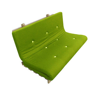 Memory Foam Futon Mattress | Roll Out/Fold Up Guest Bed | Lime | 190cm x 125cm