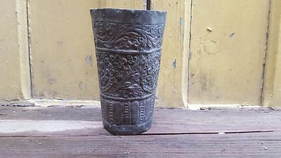 Vintage islamic Persian Hand Engraved Copper cup hande made  middle eastern