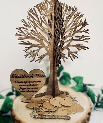Personalised Guestbook Wishing Wedding Tree Guest Messages Love 30 Card Hearts