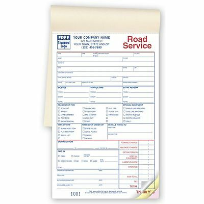 20 towing invoice books road service books 1000 3 part forms