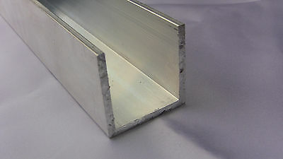 "Aluminum C-channel 1.5"" x 1.5"" x 1.5"" x 48"" x 0.125"" thick (Architectural)"