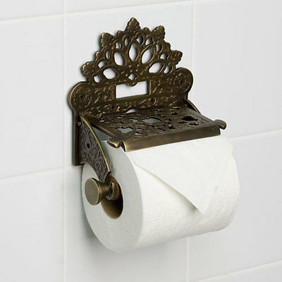Vintage Toilet Roll Holder Victorian Novelty Unusual Edwardian Antique Bronze