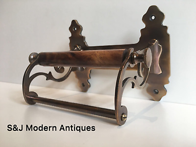 Vintage Toilet Roll Holder Victorian Antique Copper Bronze Edwardian Unusual Old