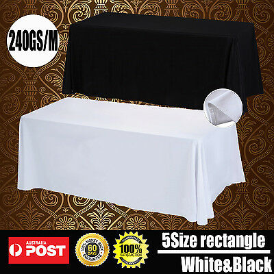 Tablecloths Wedding Rectangle Event Party Black White Table Cloth Trestle Table