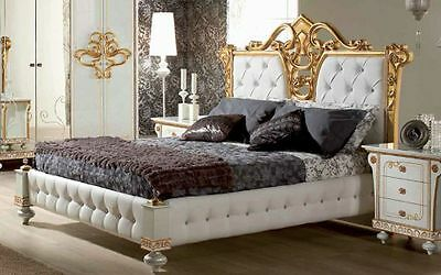 bett 180x200 cm desere weiss gold luxus schlafzimmer eur picclick de. Black Bedroom Furniture Sets. Home Design Ideas