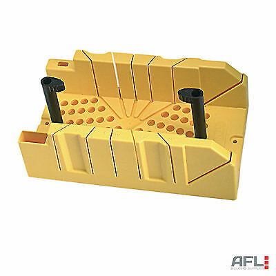Stanley Clamping Mitre Box 310mmx170mm - 90°, 45° & 22.5° Mitre Slots