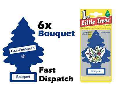 "Magic Tree ""little Tree"" Bouquet Fragrance Car Air Freshener Pack Of 6"
