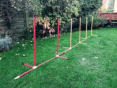 Jessejump Deluxe Combination Use as a 6 Pole Weave or 2x100cm Jumps + Hoop