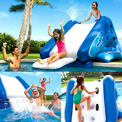 Inflatable Water Slide Swimming Pool Play Center OutdoorKids Fun Summer -Relax