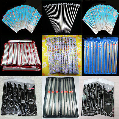 Single/Double Pointed Stainless Knitting Needles Circular Needles Craft Knit