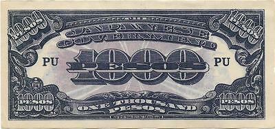 1000 Peso Phillipines Wwii Occupation By Japan Uncirculated