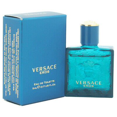 Versace Eros Cologne for Men .17 / 0.17 oz EDT New in Box (Notice Size!)