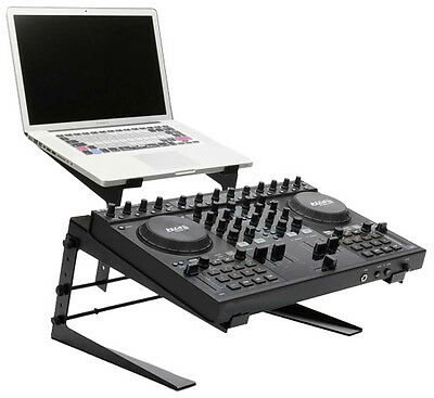 Pyle Dual Laptop and Controller Stand Height Adjustable Professional Quality