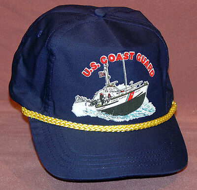 NEW US Coast Guard Cap Navy Blue Hat Military Ship Boat USCG