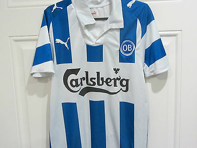 2008 Odense home football shirt - Small Mens