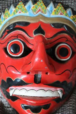 Old Balinese Carved Wooden Dance Mask… has great colour & patina...