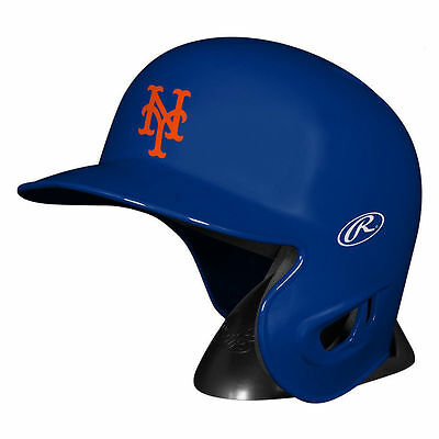 New York Mets Rawlings MLB Mini Replica Baseball Helmet w/Stand