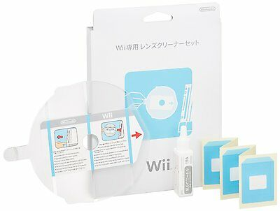 New Nintendo Official Wii Lens Cleaning Cleaner Kit Set japan